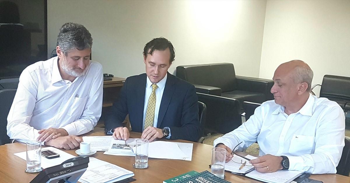 Em audiência no Ministério das Cidades Deputado Vinicius trata da Região Metropolitana da Serra e projeto de contenção das cheias do Caí